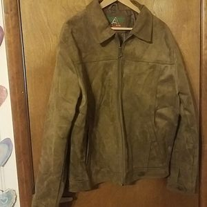 ACallezioni Mens Faux Suede Jackey Brown XXL